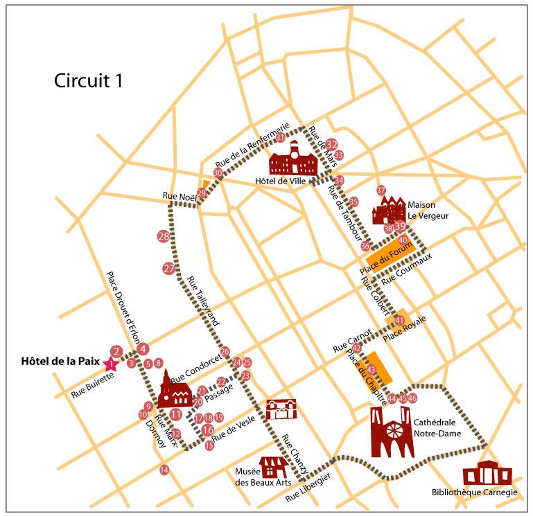 Carte touristique reims my blog - Carte de visite reims ...